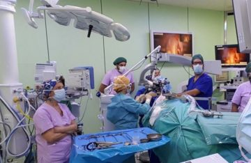 The best surgery rooms in Europe have opened their doors. Surgery room of professor Puxeddu.